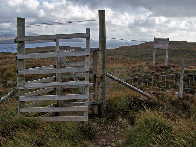 Gate into Rebel's Wood