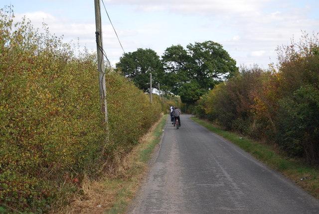 Cyclists on Lower Haysden Lane