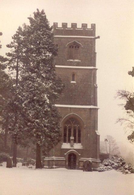 Elkstone Church in Winter