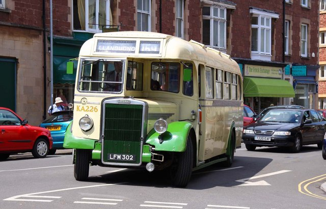 Old Leyland bus in Minehead