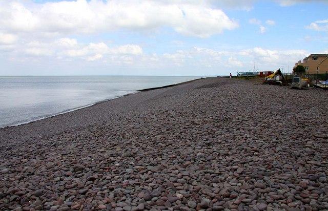 Pebble beach by Minehead Harbour