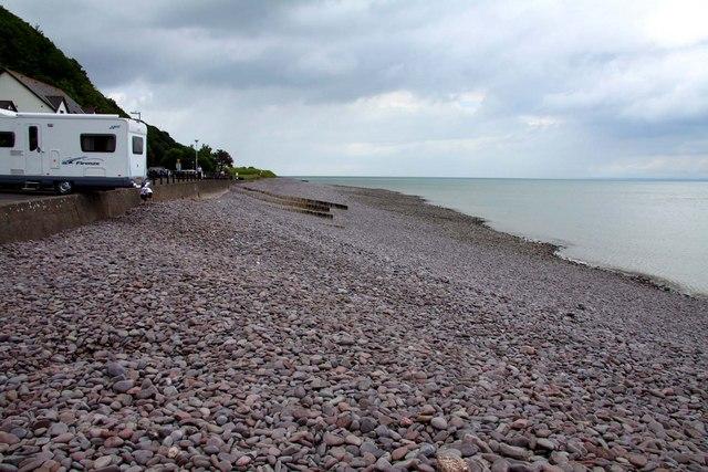 Pebble beach in Minehead