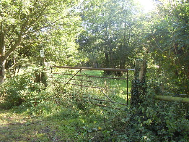 Gate into unused field