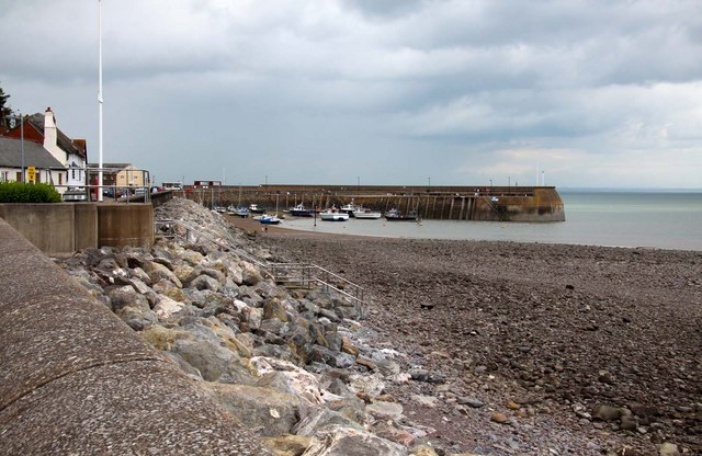 The beach by Minehead Harbour