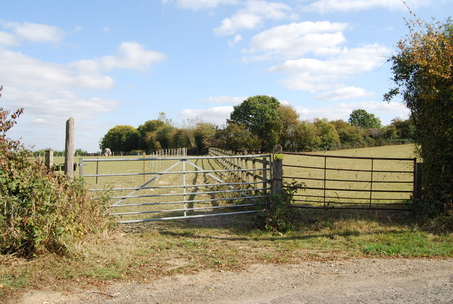 Gated field off Lower Haysden Lane