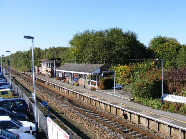 Templecombe station platform.