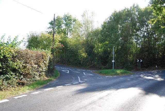 Junction of Gate Farm Rd & Upper Haysden Lane