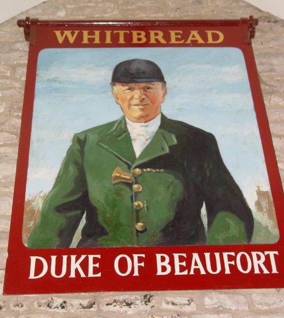 Duke of Beaufort pub sign Hawkesbury Upton