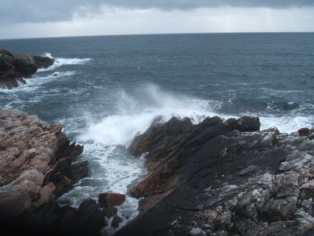 Rocky shore near Port Mholair, Lewis