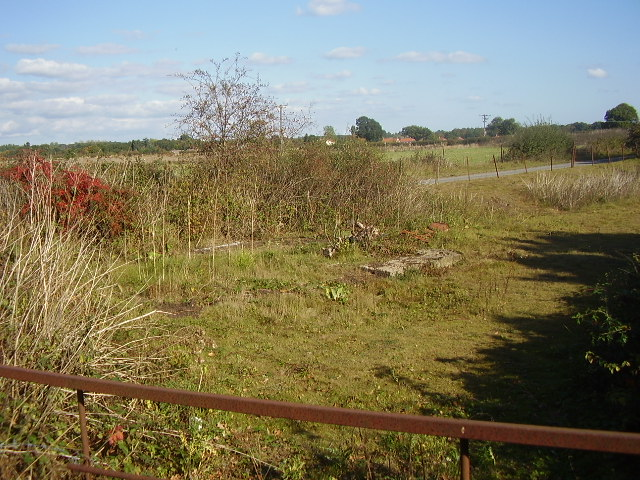 The site of Ellingham Signal Box