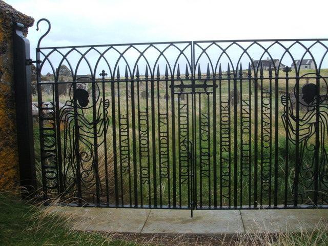 Wrought iron gates at entrance to St Columba's Church