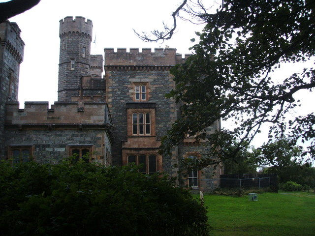 Lews Castle, partly boarded up