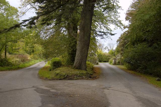 Road junction at Kirkton