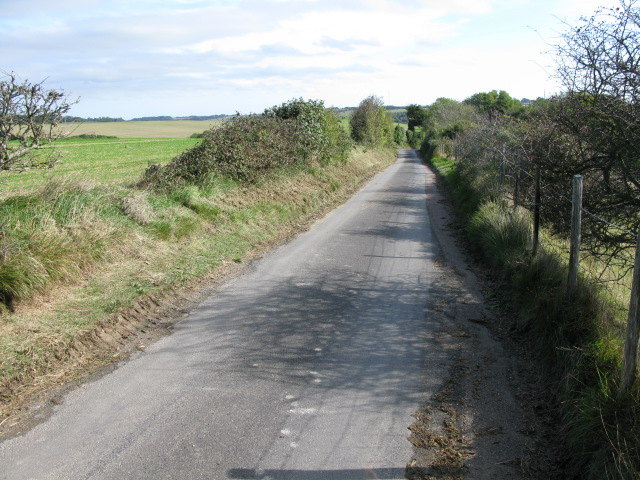 Looking E along Crete Road West