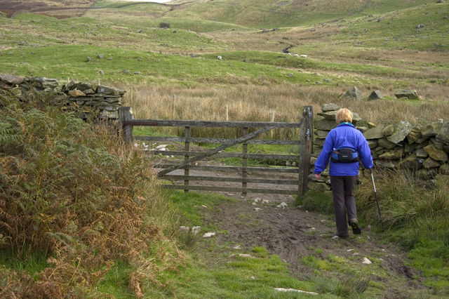 Gate on footpath from Kentmere to Longsleddale