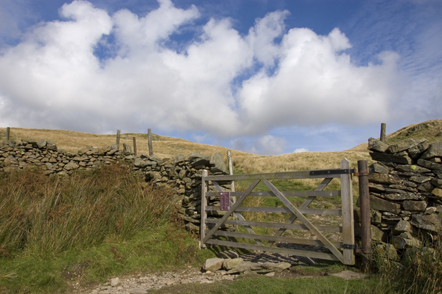 Gate on bridleway to Kentmere