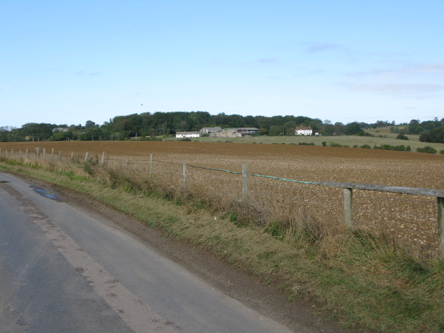 View across fields to Grove Farm