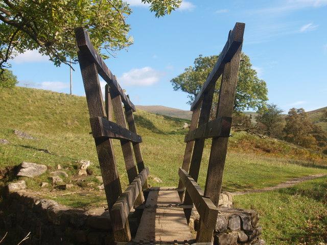 Footbridge over a dry stream bed (2)
