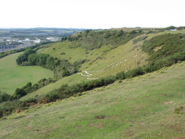The escarpment of the North Downs