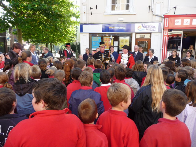 Tiverton : Fore Street, The Proclamation of the Fair