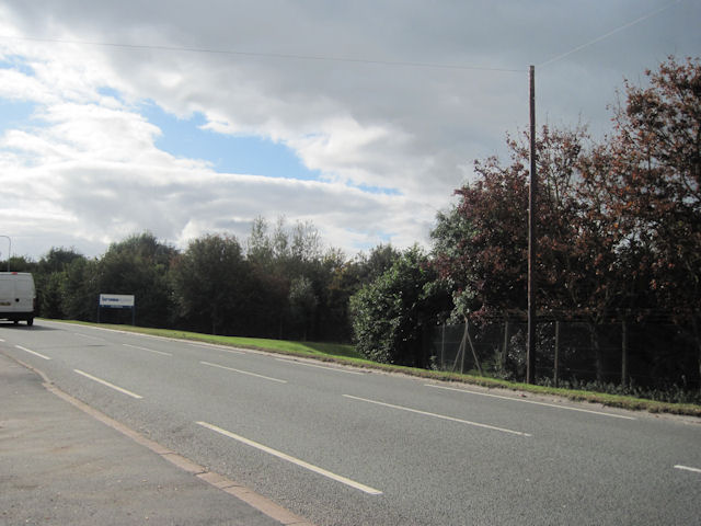 Road into Chirk near Chemical Factory