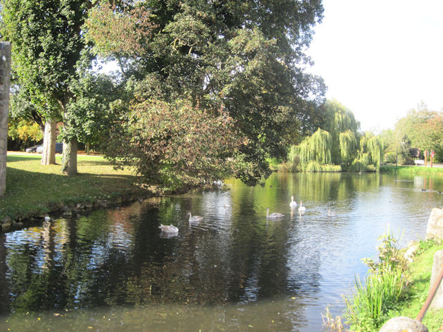 Pond at Whittington Castle