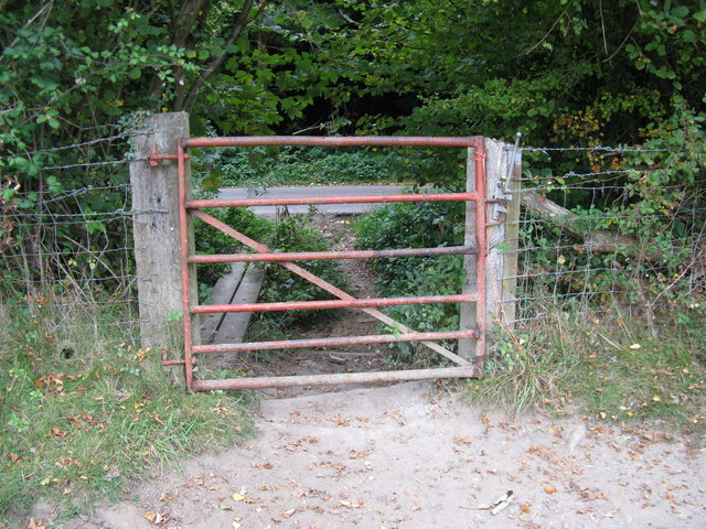 Gate exit onto Clappers Lane