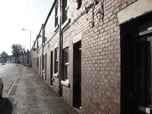 Pleasley - terrace on Chesterfield Road
