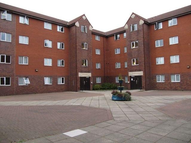 Halls across the courtyard