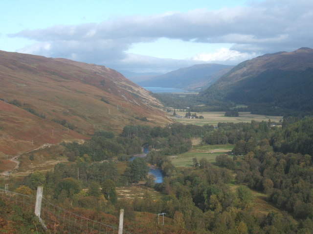 View down Strath More, towards Loch Broom
