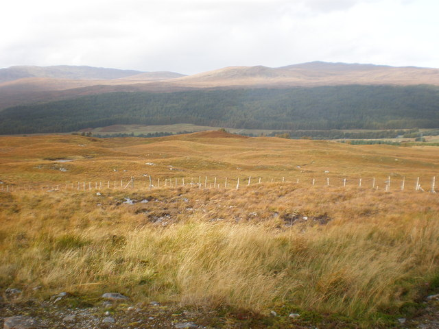 Moorland east of Mackenzie's Cairn in Glen Moriston