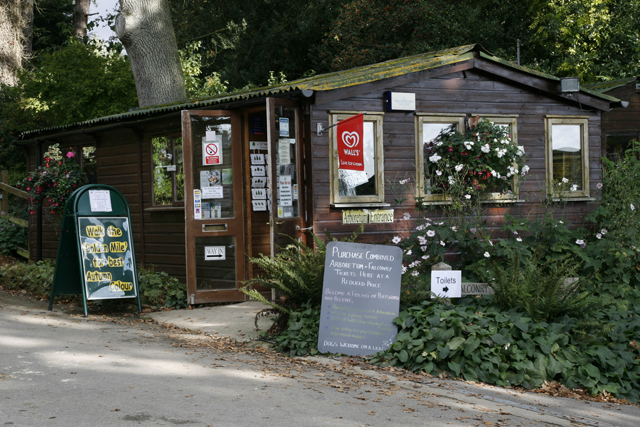 The Shop at the entrance to Batsford Arboretum