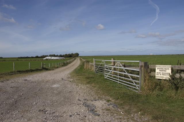 Farm track near Sand Villa