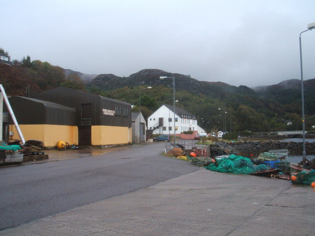 Fish processing facilities, Harbour,Gairloch