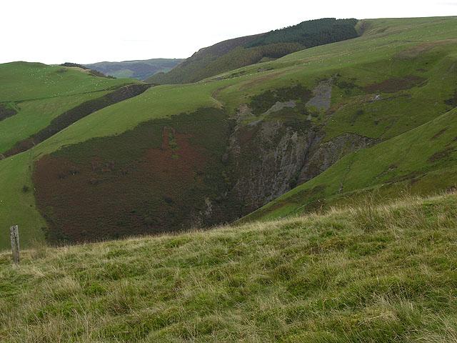 Ravines on Banc y Cwm