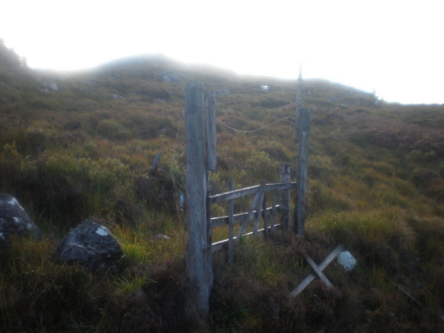 Old gate on moorland Meall an lasgaire