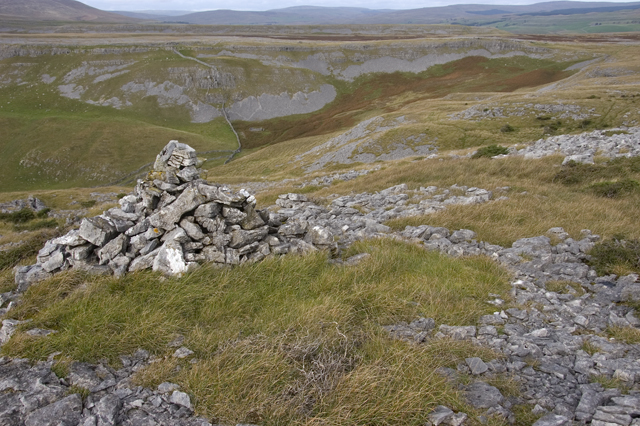 Cairn on the slopes of Moughton