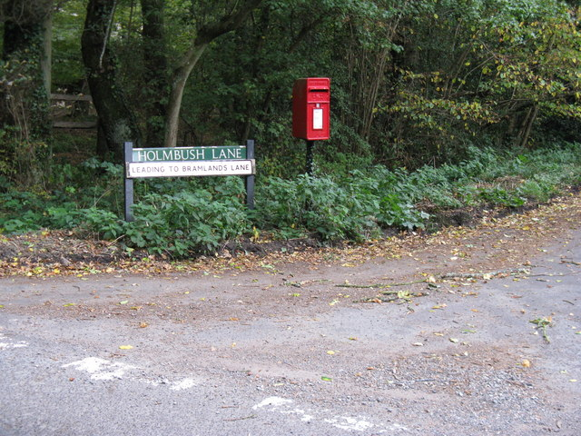 Post box at junction of lanes