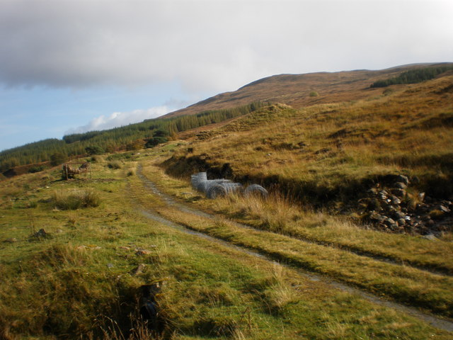 Track going to Meall Damh