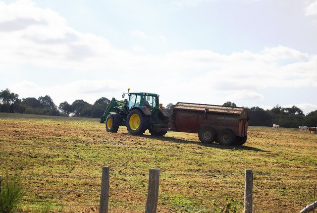 Muck spreading by Ensfield Rd