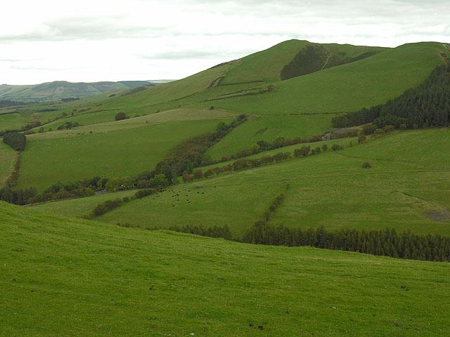 Fields by Bwlch Coch