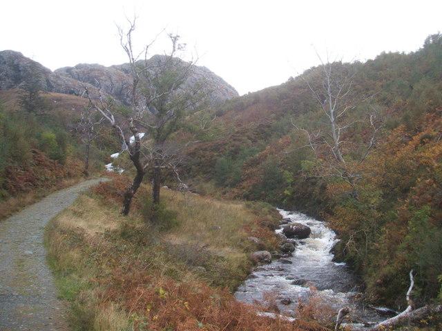 Approaching Flowerdale Waterfall
