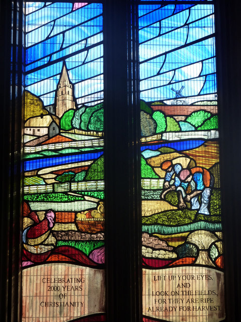 Stained glass, Billinghay church