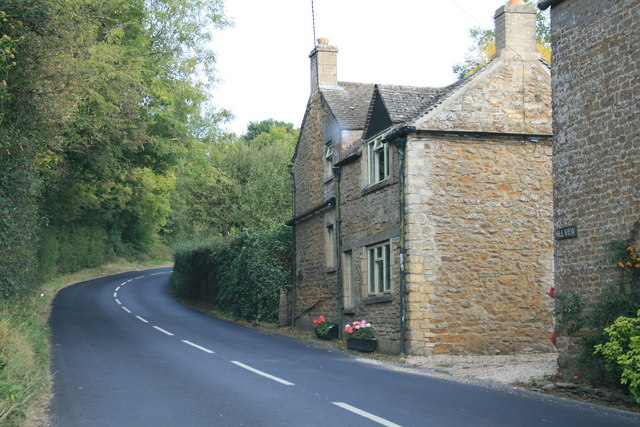Uphill through Little Rissington