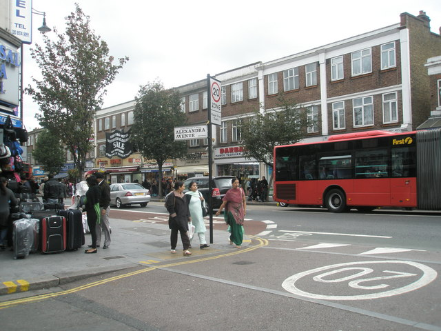 Junction of Alexandra Avenue and The Broadway
