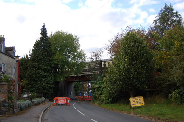 Bridge repairs in Gretton