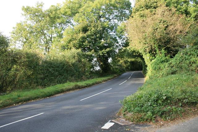 Climbing uphill away from Little Rissington