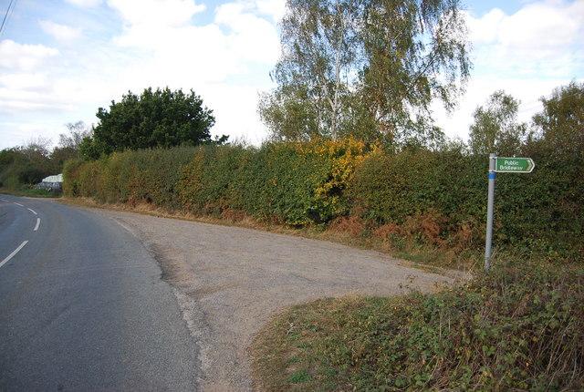 Bridleway off Ensfield Rd at Ensfield Farm