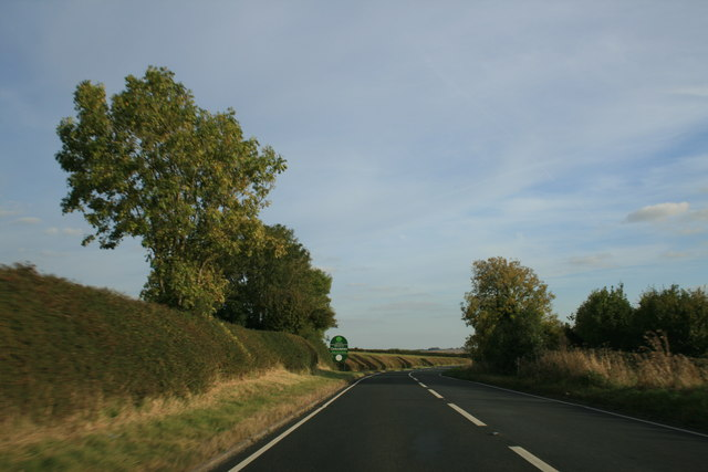Approaching the county boundary on the A424