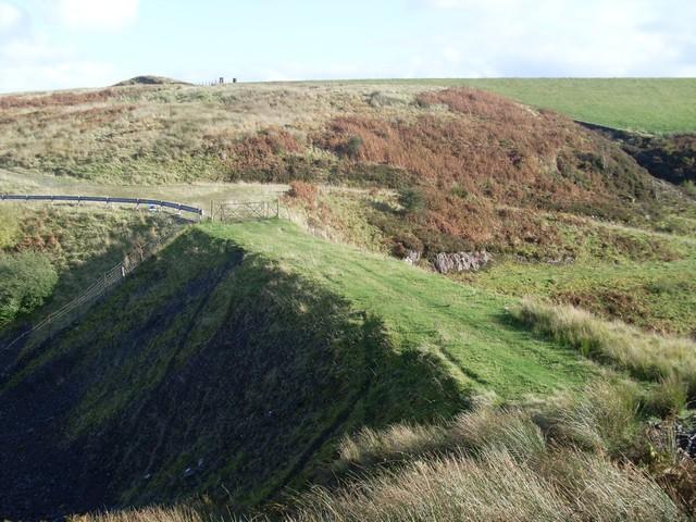 Man-made pathway across Burn Crook